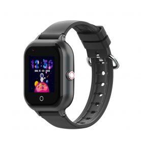Ceas Smartwatch Pentru Copii, Wonlex KT24, Negru, Nano SIM, 4G, Pedometru, Monitorizare, Camera, Contacte, Apel SOS