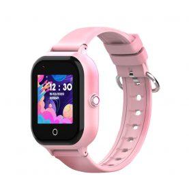 Ceas Smartwatch Pentru Copii, Wonlex KT24, Roz, Nano SIM, 4G, Pedometru, Monitorizare, Camera, Contacte, Apel SOS