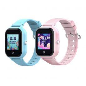Pachet Promotional 2 Smartwatch-uri Pentru Copii, Wonlex KT24, Albastru + Roz, Nano SIM, 4G, Pedometru, Monitorizare, Camera, Contacte, Apel SOS