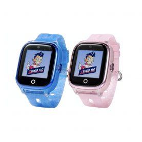 Pachet Promotional 2 Smartwatch-uri Pentru Copii Xkids X10, Albastru si Roz, cu Functie Telefon, Localizare GPS, Apel monitorizare, Camera, Pedometru, SOS, IP54, Turcoaz, Cartela SIM Cadou, Meniu romana