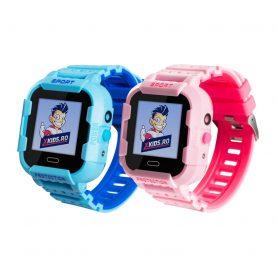 Pachet Promotional 2 Smartwatch-uri Pentru Copii Xkids X20, Albastru si Roz, cu Functie Telefon, Localizare GPS, Apel monitorizare, Camera, Pedometru, SOS, IP54, Incarcare magnetica, Cartela SIM Cadou, Meniu romana