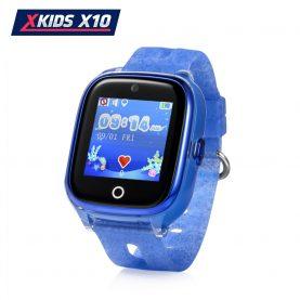 Ceas Smartwatch Pentru Copii Xkids X10 cu Functie Telefon, Localizare GPS, Apel monitorizare, Camera, Pedometru, SOS, IP54, Albastru, Cartela SIM Cadou, Meniu engleza