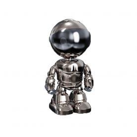 Video Baby Monitor Electroplating Iron Man A160-B, Comunicare bidirectionala, Vedere nocturna, Monitorizare 360°, Control prin aplicatie, Slot MicroSD