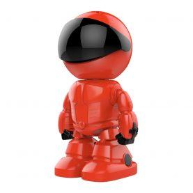 Video Baby Monitor Little Red Man A160-R, Vedere nocturna, Comunicare bidirectionala, Monitorizare 360°, Conexiune Wi-Fi, Slot MicroSD