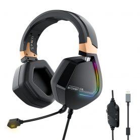 Casti Pentru Gaming BlitzWolf BW-GH2, Conexiune USB, Sonorizare 7.1, Lumini LED RGB, Driver 50 mm