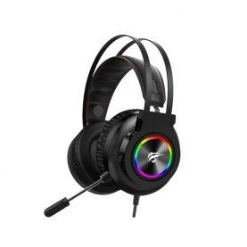 Casti Pentru Gaming Havit H654U, Conexiune USB, Microfon, Lumini LED RGB, Lungime cablu 2.2 m
