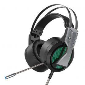 Casti Pentru Gaming BlitzWolf BW-GH1, Microfon, Sonorizare 360, Cablu 2.2 m, Iluminare RGB