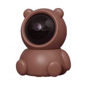 Video Baby Monitor Bear AB88, Maro, Detectare miscare, Monitorizare 360°, Vedere nocturna, Comunicare bidirectionala, Slot microSD