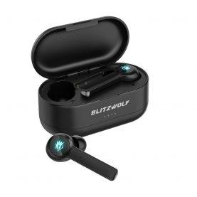 Casti in-Ear Blitzwolf BW-FLB2, Negru, Sonorizare 7.1, Charging box 100 mAh, Conexiune Bluetooth 5.0