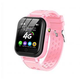 Ceas Smartwatch Pentru Copii YQT-T16, Roz cu Functii de monitorizare, Camera, Apelare video, SOS, Perimetru siguranta, Comunicare bidirectionala, Contacte, Lanterna