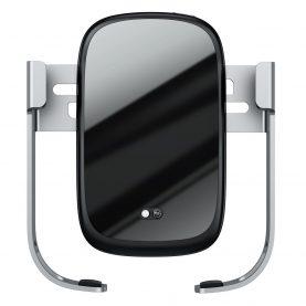 Kit suport auto universal Baseus cu incarcare wireless Qi 10W, Incarcator auto 30W, Cablu Micro USB