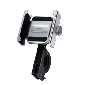 Suport telefon pentru bicicleta / motocicleta Baseus Knight, Gri, Argintiu