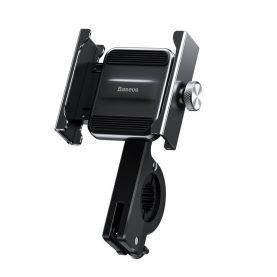 Suport telefon pentru bicicleta / motocicleta Baseus Knight, Gri, Negru