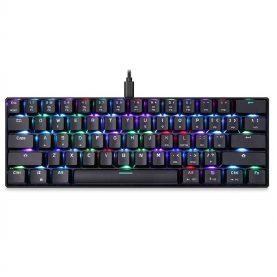 Tastatura Gaming Motospeed K61 RGB, Iluminare RGB, Lungime cablu 1.5 m, Conexiune USB