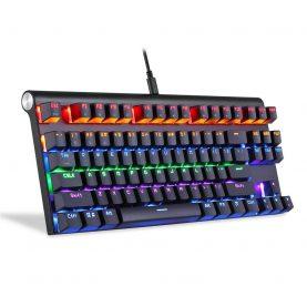 Tastatura Gaming Motospeed K83, Conexiune USB / Bluetooth, Iluminare RGB, Lungime cablu 1.5 m