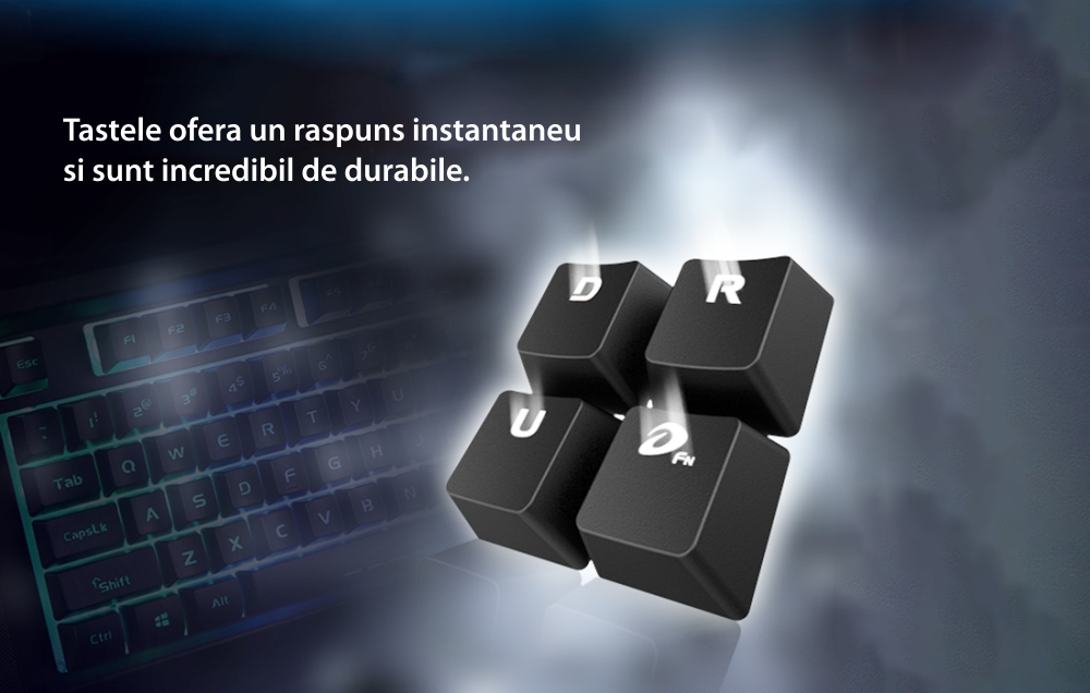 Tastatura Gaming Dareu LK145, Lungime cablu 1.8 m, Iluminare RGB, Conexiune USB