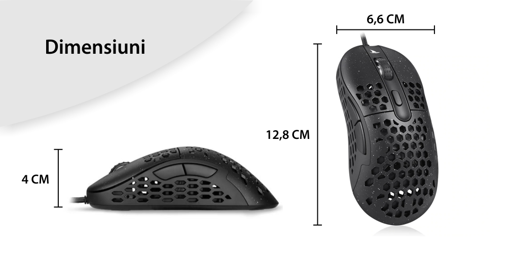 Mouse Gaming Motospeed N1 Sensibilitate 6400 DPI, Conexiune USB 2.0, Cablu 1.8 m