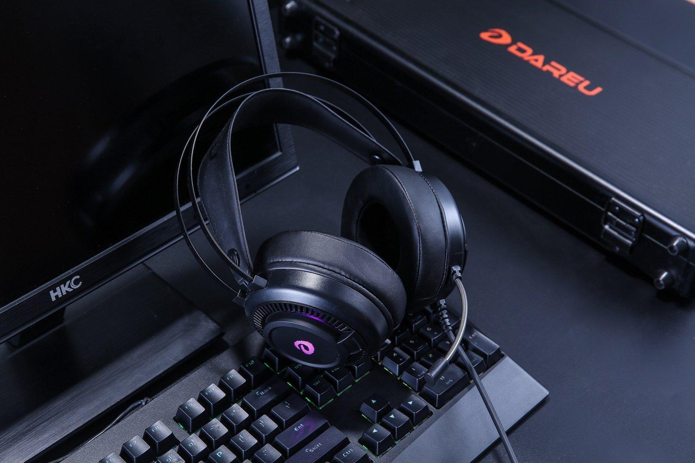 Casti Pentru Gaming Havit EH416, Microfon, Iluminare RGB, Difuzor 50 mm, Conexiune USB