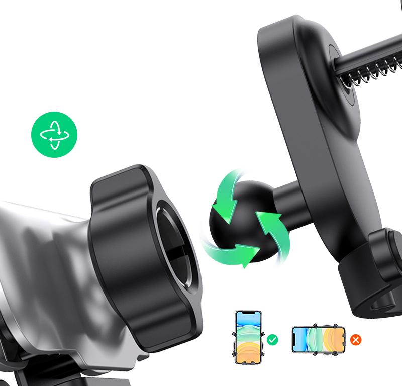 Suport auto universal UGreen LP228, Fixare in grila, Cleme flexibile, Rezistent la socuri