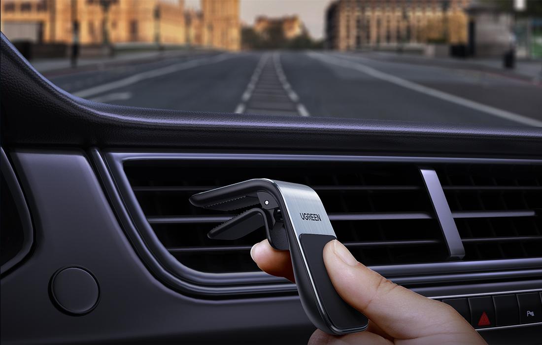 Suport auto magnetic pentru ventilatie UGreen LP290, Argintiu, Compatibilitate universala