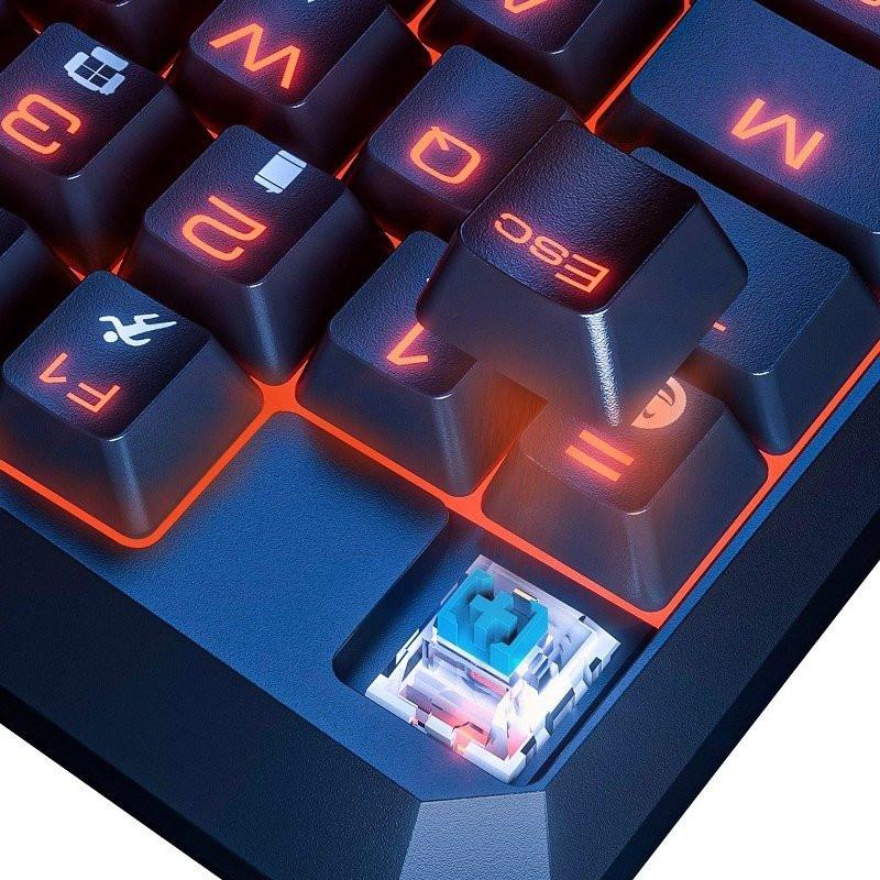 Tastatura Gaming Baseus GAMO, Conexiune USB, Iluminare LED, Ergonomic