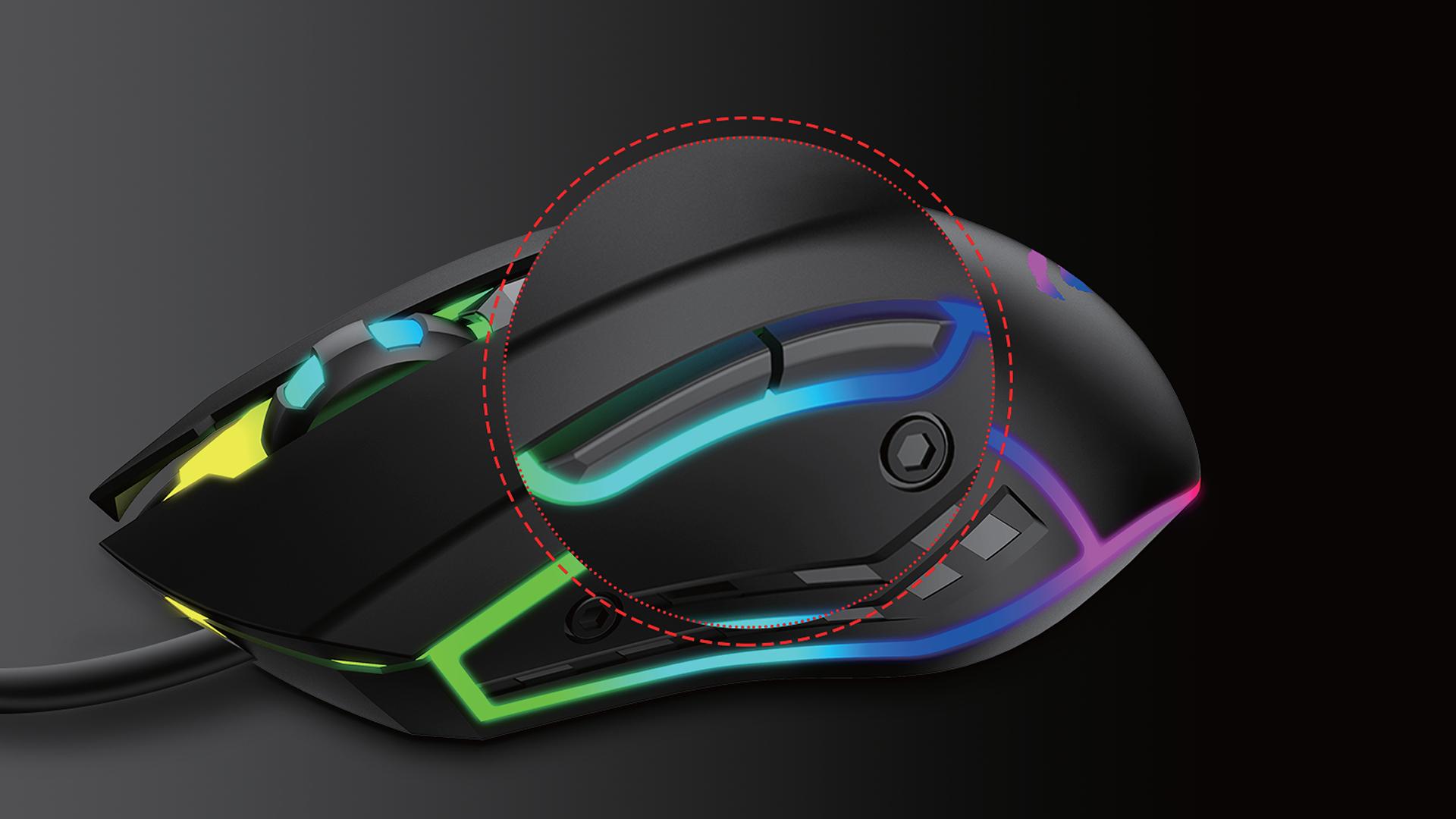 Mouse Gaming Havit MS1018, Sensibilitate 3200 DPI, Conexiune USB, Cablu 1.5 m