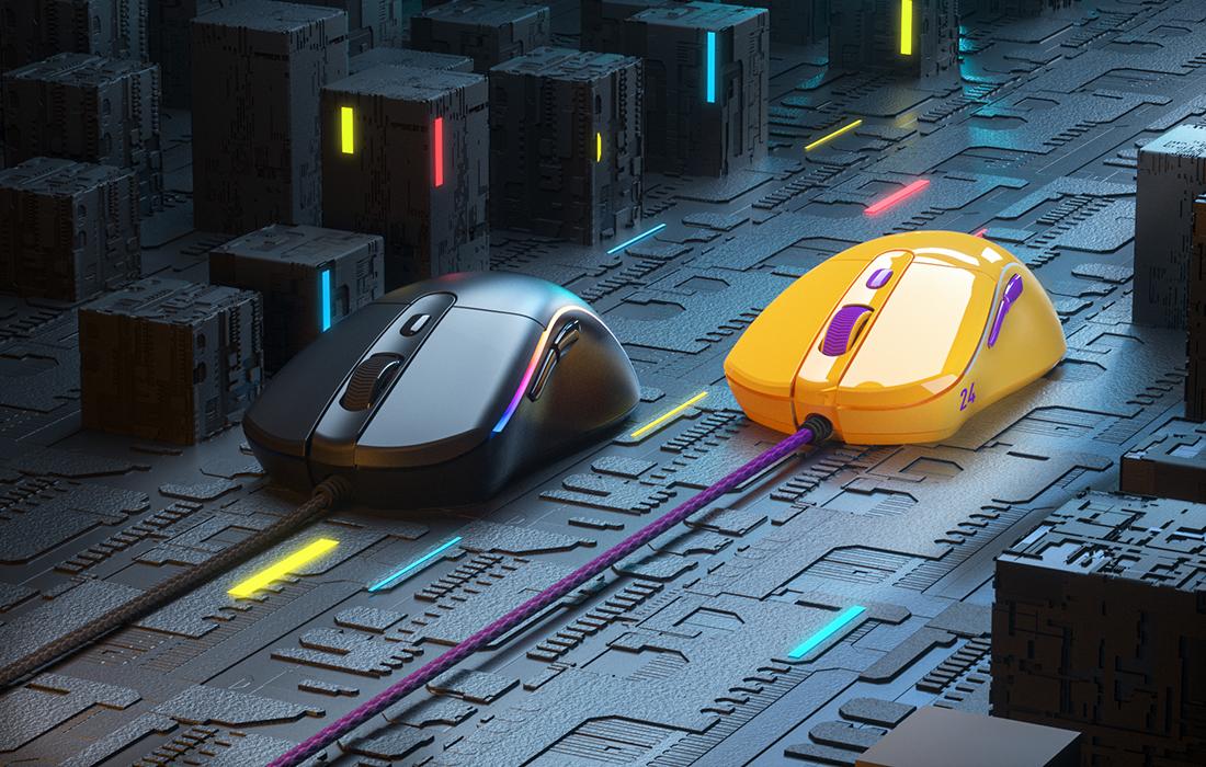 Mouse Gaming Dareu A960, Iluminare RGB, 18000 DPI, Conexiune USB, Cablu 1.8 m