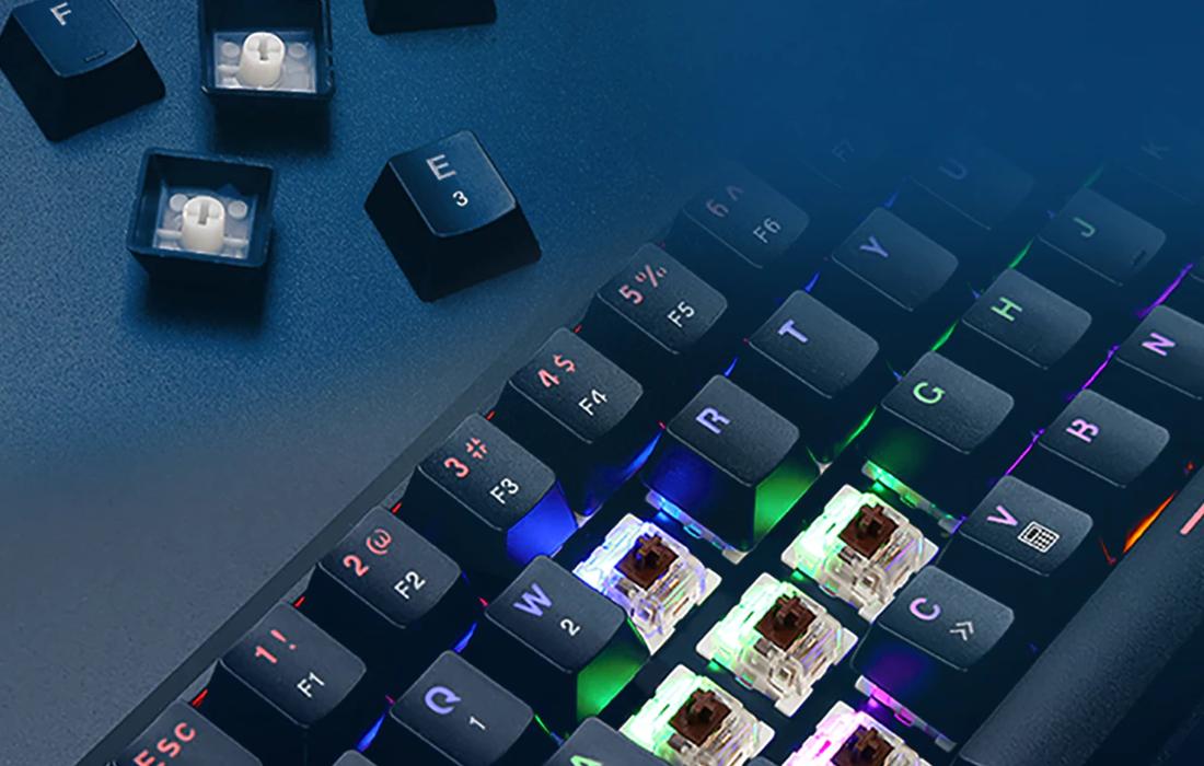 Tastatura Gaming Deluxe KM32, Iluminare RGB, Conexiune USB / Bluetooth, Baterie 2000 mAh