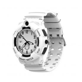 Ceas Smartwatch Pentru Copii, Wonlex KT25, Alb, Nano SIM 4G, Apel video, Buton SOS, Alarma, Istoric apeluri, Galerie foto