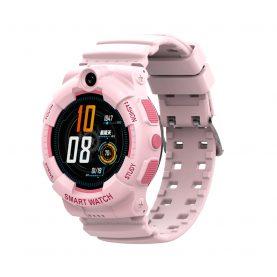 Ceas Smartwatch Pentru Copii, Wonlex KT25, Roz, Nano SIM 4G, Apel video, Buton SOS, Alarma, Istoric apeluri, Galerie foto