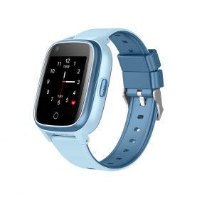 Ceas Smartwatch Pentru Copii Wonlex KT17, Albastru cu Functie de Localizare GPS, Comunicare bidirectionala, Pedometru, Alarma, Camera, Mesagerie, Apel Video, Buton SOS