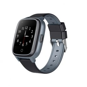 Ceas Smartwatch Pentru Copii Wonlex KT17, Negru cu Functie de Localizare GPS, Comunicare bidirectionala, Pedometru, Alarma, Camera, Mesagerie, Apel Video, Buton SOS