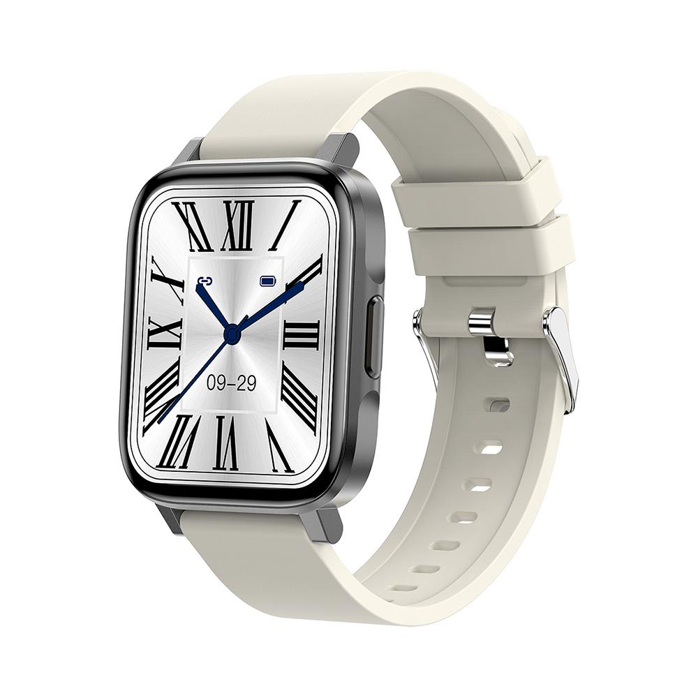 Ceas Smartwatch Twinkler TKY-F60, Gri cu Monitorizare ritm cardiac, Tensiune arteriala, Calitate somn, Distanta parcursa, Calorii, Pasi