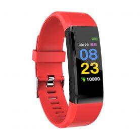 Bratara fitness inteligenta XK Fitness Active 15 Pro, Rosu cu Functii monitorizare sanatate, Memento sedentar, Calorii arse, Pedometru, Notificari apel / SMS